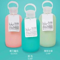 Wholesale Bkr Glass Water Bottle mL Colorful Design Silicone Cover carry a water bottle DHL Free OTH299