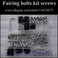 Wholesale Fairing Screw Bolts Kit black For SUZUKI GSXR600 GSXR750 GSXR Fairings Bolts Screws