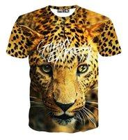 big graphic tees - tshirt Big tiger printed tees men s t shirt short sleeve casual d tshirt summer tops graphic T shirt Asia M XXL B42