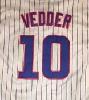 Wholesale eddie Vedder white blue gray jersey size small S xl