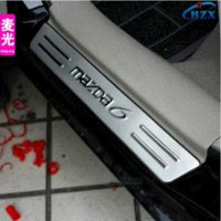 Wholesale mazda stainless steel door sill plate door sill scuff plate car cover CAR ACCESSORIES threshold set