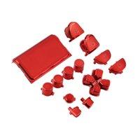 achat en gros de playstation rouge-Nouveau Plein Chrome Bouton de remplacement Kit pour Playstation 4 PS4 Controller Joystick Jeu Vidéo Playstation Rouge Couleur Mod Jeu