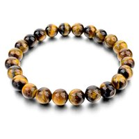 Wholesale Tiger Eye Love Buddha Bracelets Bangles Trendy Natural Stone Bracelet For Women Famous Brand Men Jewelry New Pulseras