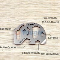 Wholesale amping Hiking Travel Kits Sanrenmu SK015D Pocket EDC Multi Functional Tool Toolkit Spanner Wrench Flat Screwdriver Bottle Opener w Key R