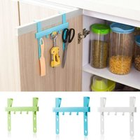 Wholesale organizer Blue Hanging Cupboard Door Over the Kitchen Cabinet Back Style Stand Trash Garbage Bags Storage Holder Rack UY