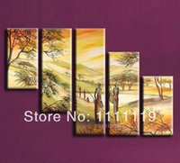 african art wall hanging - Handmade P Canvas Hang Oil Painting On Wall Art The African Scene Paintings For Living Room Modern Picture For Room Wall Deocr