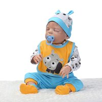 baby safe house - Fashion Boy Doll Safe Full Silicone Reborn Baby Dolls with Blue Clothes Have Educational Toys As Gift to Child Play House