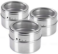Wholesale Stainless Steel Spice Jar Kitchen Magnetic Salt Bottle Creative Barbecue Pepper Pot