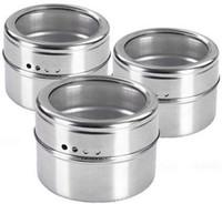 barbecued pig - Stainless Steel Spice Jar Kitchen Magnetic Salt Bottle Creative Barbecue Pepper Pot