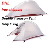 Wholesale 2016 DHL NatureHike Person Tent ultralight T Plaid Fabric Tents Double layer Camping Tent Outdoor Tent