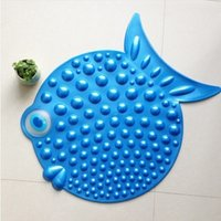 Wholesale Eco friendly cartoon fish pattern bath mat doormat mats slip resistant pvc shower mat cm cm