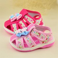 autumn sound - 2016 new summer models Rubber shoes Female baby sandals sound Cotton baby toddler shoes soft bottom years Z L220