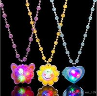 alloy street lighting - Hot toys children s gifts cartoon flash light emitting luminous pendant necklace night market street vendor supply