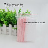 Wholesale Transparent Plastic Self styled Bag Zip Lock bag Plastic Packaging Bags red Transparent zipper reclosable packing bag Spot package
