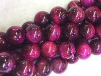 Wholesale dyeing beads purple Tiger Eye mm Round Beads Semi precious Stone Loose Beads Gemstone Beads for DIY Fashion jewelry