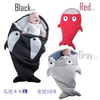 Wholesale 1pcs shark sleeping bag Newborns sleeping bag Winter Strollers Bed Swaddle Blanket Wrap cute Bedding baby sleeping bag