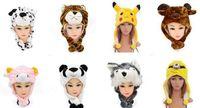adult fun stuff - Cosplay stuffed cartoon hat adults kids children plush animal hat party costume cap cute fun event winter warm hats earmuff