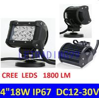 Wholesale 4 inCH LED Work Light Lamp for Motorcycle Tractor Boat Off Road WD x4 Truck SUV ATV Spot Flood v v W LED WORK LIGHT