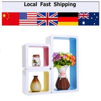 Wholesale Hottest Pc Set Floating Wood Wall Cubes CD DVD Shelf Hanging Storage Display Shelves
