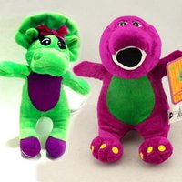 barney children - Cute Barney the Dinosaur Plush Stuffed Toy CM TV Cartoon Soft Dolls Children Baby Kids Birthday Gift Retail pc