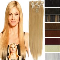 Wholesale Hot Selling European and American Hairpiece Sets of Straight Hairpiece cm inch Color Available