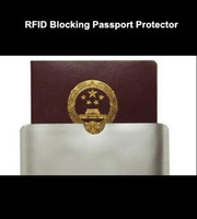 Wholesale blank RFID blocking sleeve for passport Protector RFID passport Aluminum Sleeve