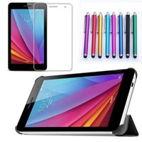 apple stock drops - New Leather Stand Cover Tablet Case for Huawei T1 T1 u inch Screen Protector Pen Colors in Stock