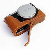Wholesale High Quality Colors Photo Bag Genuine leather Camera Bag Case For Fuji X70 Digital Camera Shoulder Bags Backpack Cases