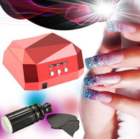 Wholesale Hot W LED Nails Dryer Cure Lamp Machine Red Set Nails Art Stamp Scraper