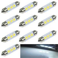 Wholesale 200pc White MM LED SMD Festoon Dome Car Light Interior Lamp Bulb V RF oy040