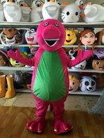 barneys sales - Barney Dinosaur Adult mascot costumes Cartoon Character Fancy Dress Christmas Clothing price for sale