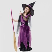 achat en gros de fille de costume de elfe-Enfants Costume de sorcière de Halloween Witch Elf Angel And Devil Girls Big Boy and Girl Halloween Zombie Cosplay