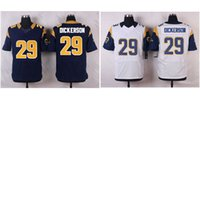american dickerson - Men s American Football Jerseys Rams Eric Dickerson Stitched Elite Jersey White Navy Blue Mix Order Drop Shipping Available