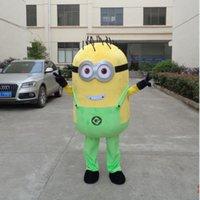 adulti di nuovo stile spregevole me servi GREEN mascotte costumi per la festa di buon trasporto libero di qualità su misura