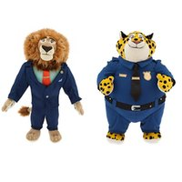 animated dolls - Animated Film Zootopia Lion Mayor and Clawhauser Stuffed Plush Toy Zootropolis Flash Plush Doll