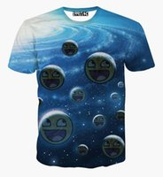 animal planet t shirts - tshirt New Fashion Men s T shirt print smile faces Cartoon Planet harajuku emoji t shirt summer tops men clothes B4