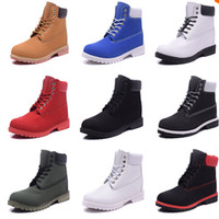 ankle boots fashion lace - Winter Red Snow Boots Brand Men Women Genuine Leather Waterproof Outdoor Work Boots Cow Leather Hiking Shoes Leisure Ankle Boots