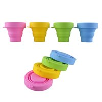 Wholesale Hiking Walking Travel Portable Silicone Retractable Folding Telescopic Collapsible Cup Color High Quality Outdoor Sport Cup