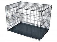 Wholesale Black quot Door Pet Cage Folding Dog Divider Cat Crate Cage Kennel Tray