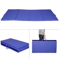 Wholesale New Blue x8 x2 quot Gymnastics Mat Thick Folding Panel Gym Fitness Exercise Mat