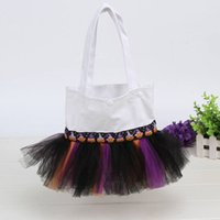 ballet totes - New Stylish Halloween Canvas Tutu Ballet Candy Tote Bag with Multi Layered Tulle For Parties Best Gift Idea