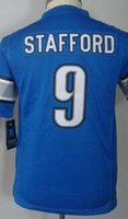 barry sanders youth jersey - 2016 Youth NIK Game Football Stitched Lions Blank Stafford Barry Sanders Johnson White Blue Jerseys Mix Order