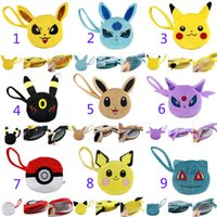 b purses - Poke pokémon go wallet bags Children Styles cartoon Poke Ball Pikachu Jeni turtle Sylveon Keychain wallet baby bag B