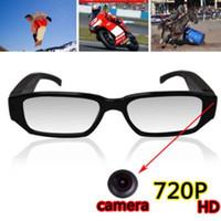 Wholesale Hotest HD P Spy Camera Glasses Camcorder fps Eyeglasses Hidden Camera Eyewear Video Recorder Mini DV DVR Video Audio Recorder Cam