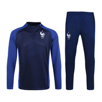 Wholesale Thai version training suit France football soccer skinny pants new tracksuit chandal futbol sweatshirt pant