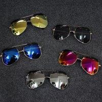 Wholesale 2016 Korean children glasses sunglasses boys sunglasses tide girls personality toad children s day gift