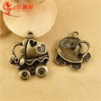 baby love pram - A2145 MM Antique Bronze Vintage baby car manual DIY retro jewelry accessories pram Baby carriage charm pendant beads