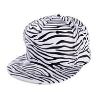achat en gros de zèbre casquette de baseball-Corée du Sud tendance des hommes et des femmes zèbre chapeau plat -brimmed chapeau hiphop hip hop bboy chapeau casquette de baseball