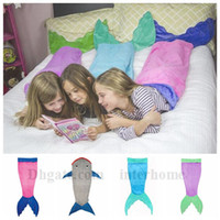 animal print blankets - Mermaid Tail Sleeping Bag Mermaid Blankets Wrap Soft Fleece Blankets Mermaid Bed Snuggle in Fish Scale Tail Sleeping Bag Cocoon Costume B821