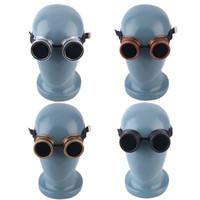 Wholesale Goggles Steam punk Glasses Vintage Retro Welding Punk Gothic Victorian for bike